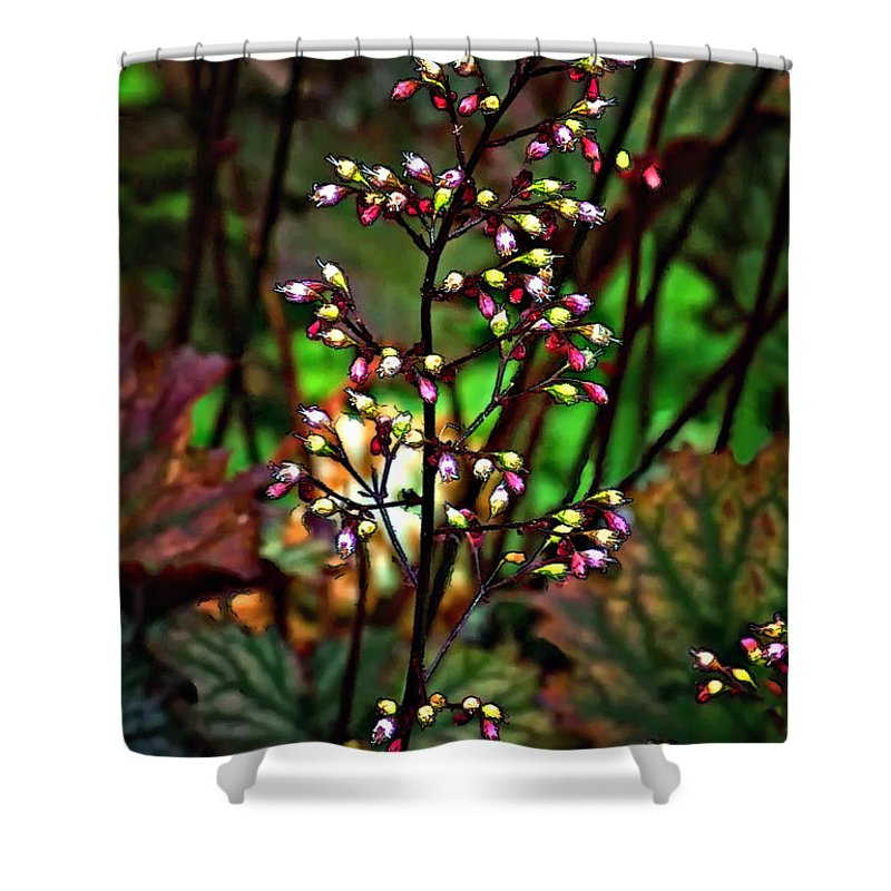 Flower Shower Curtain featuring the photograph Tiny Dancer by Steve Harrington