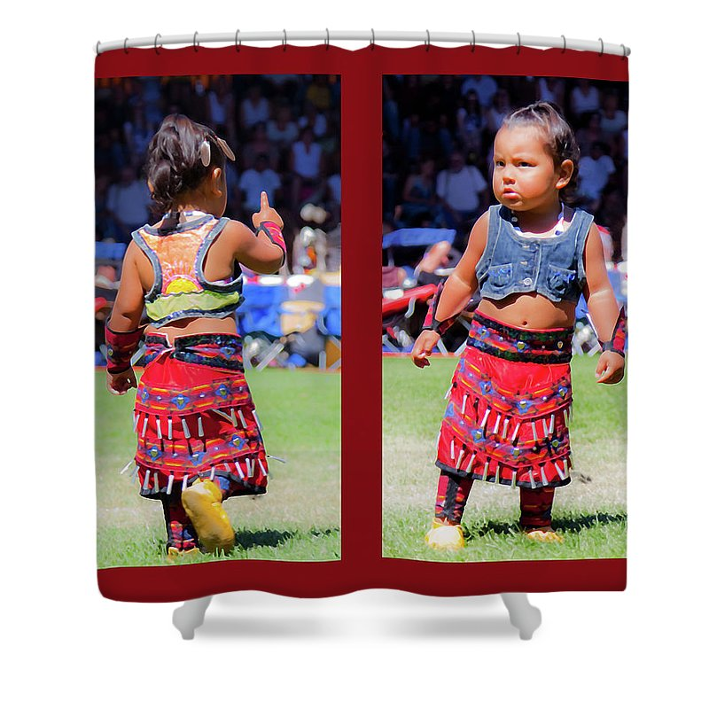 Toddler Shower Curtain featuring the photograph Tiny Jingle Dancer by Theresa Tahara