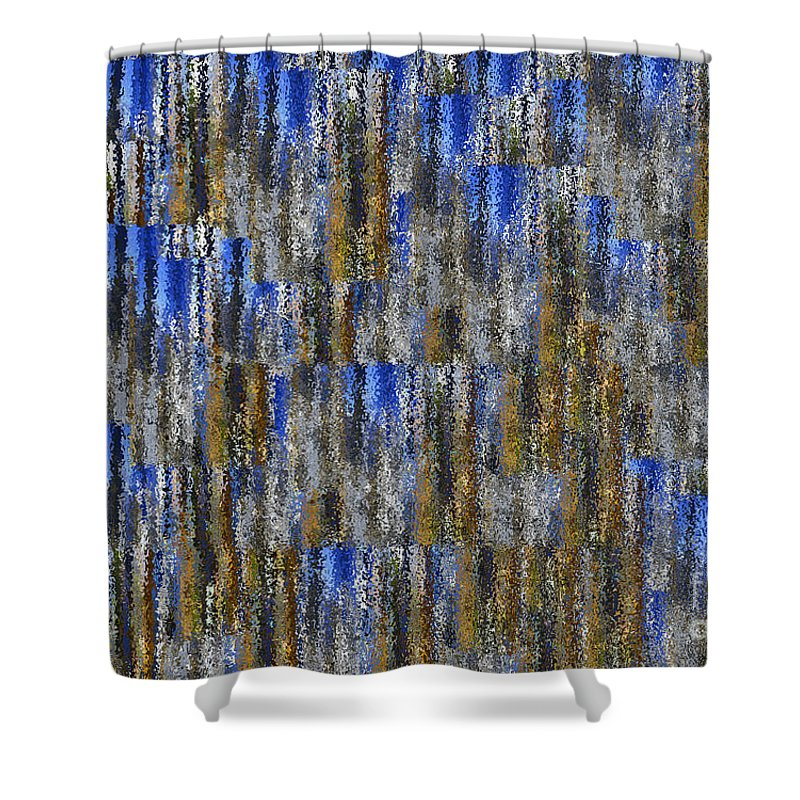 Abstract Shower Curtain featuring the photograph Tiny Ripples Background by Tim Hester