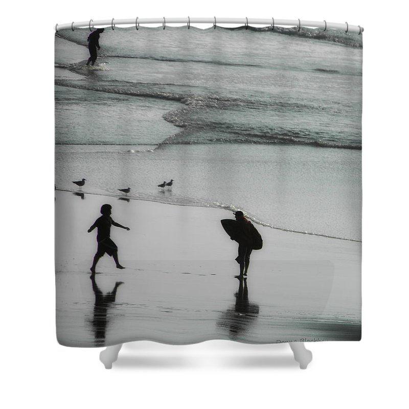 Surf Shower Curtain featuring the photograph Tip Toe Through The Surf by Donna Blackhall