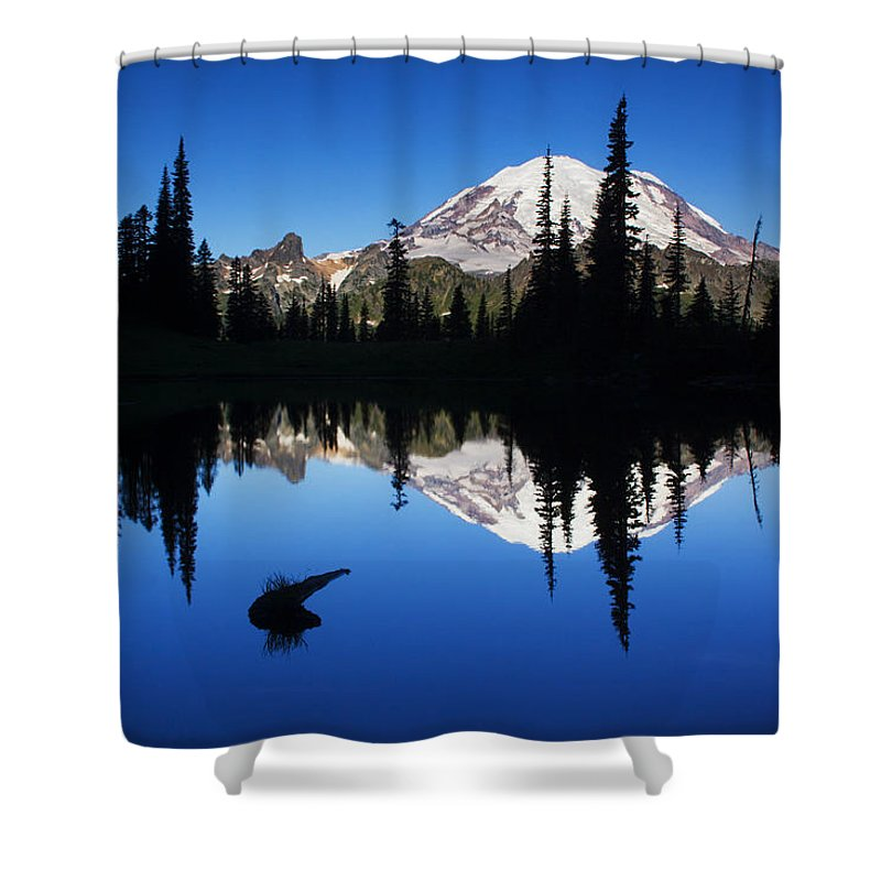Nature Shower Curtain featuring the photograph Tipsoo Sunrise by Mark Kiver