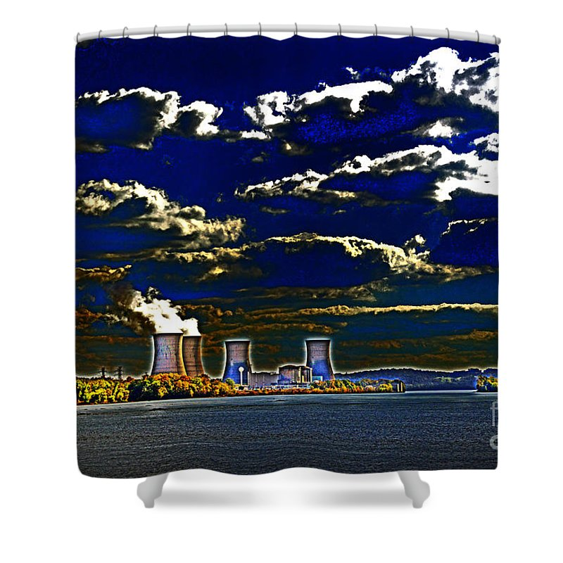 Tmi Shower Curtain featuring the photograph Tmi Melt-down by Paul W Faust - Impressions of Light