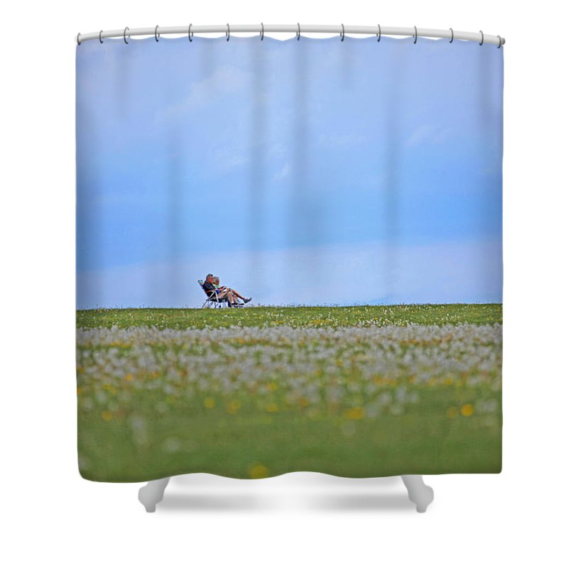 Landscape Shower Curtain featuring the photograph To Relax by Karol Livote