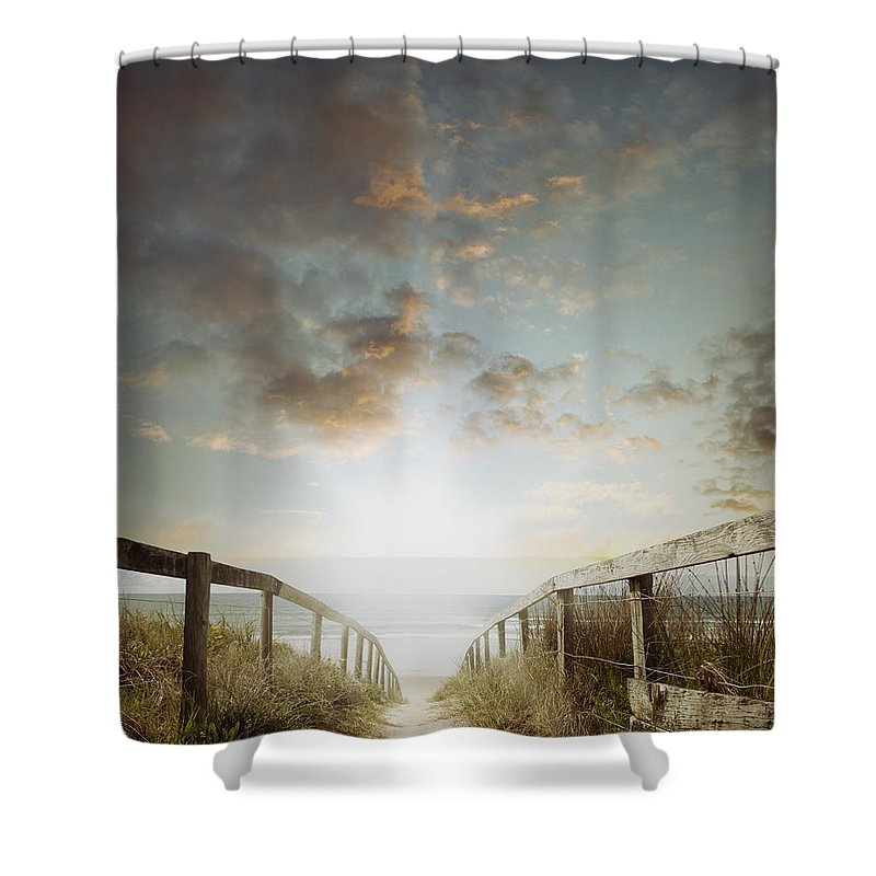 Beach Shower Curtain featuring the photograph To The Beach by Les Cunliffe