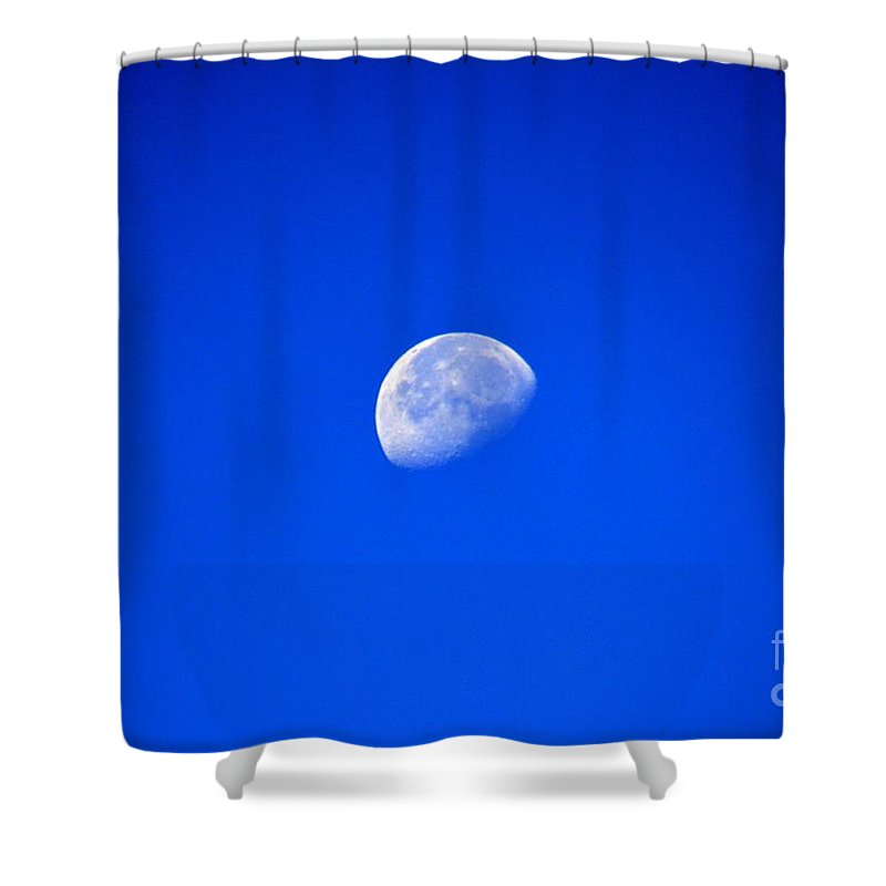 Mountains Shower Curtain featuring the photograph To The Moon And Back by Jaunine Roberts