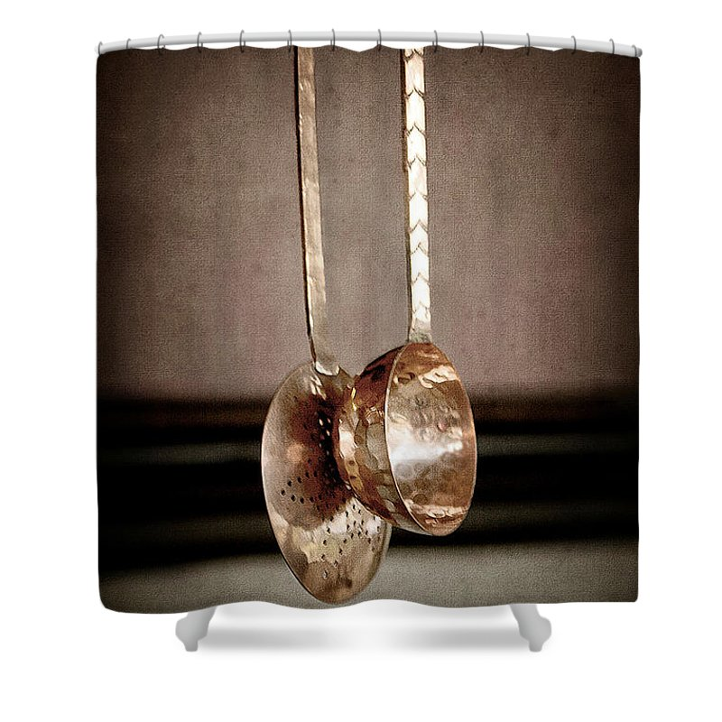 Antique Shower Curtain featuring the photograph Together by Trish Mistric