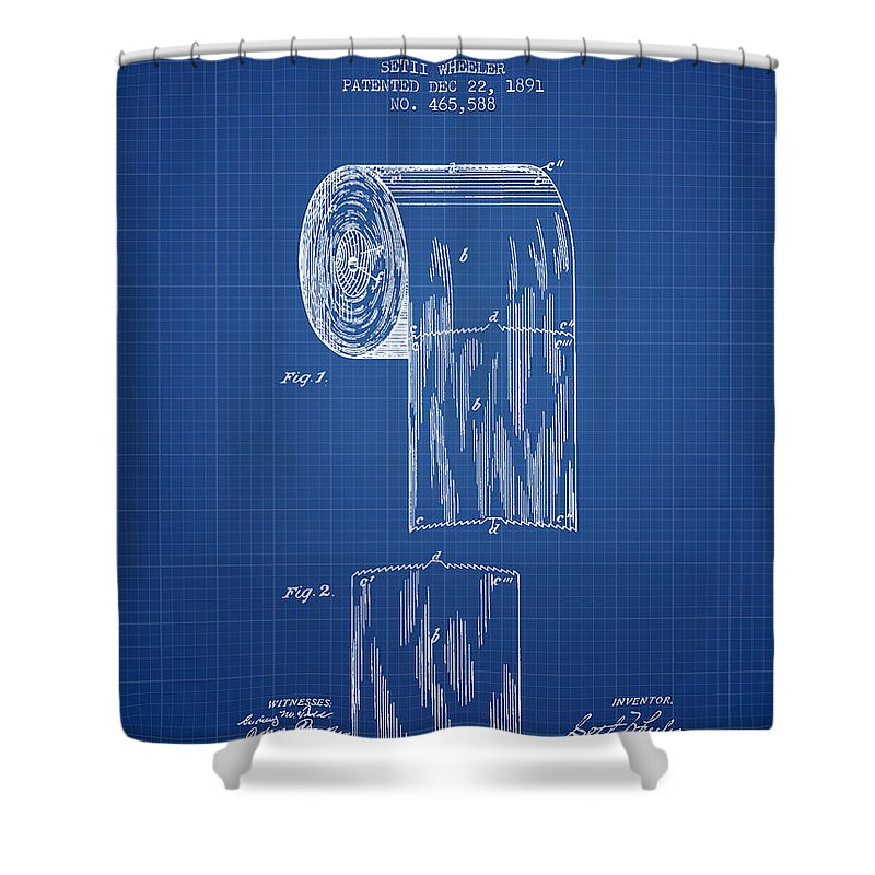 Toilet paper roll patent drawing from 1891 blueprint shower toilet shower curtain featuring the digital art toilet paper roll patent drawing from 1891 blueprint malvernweather Images