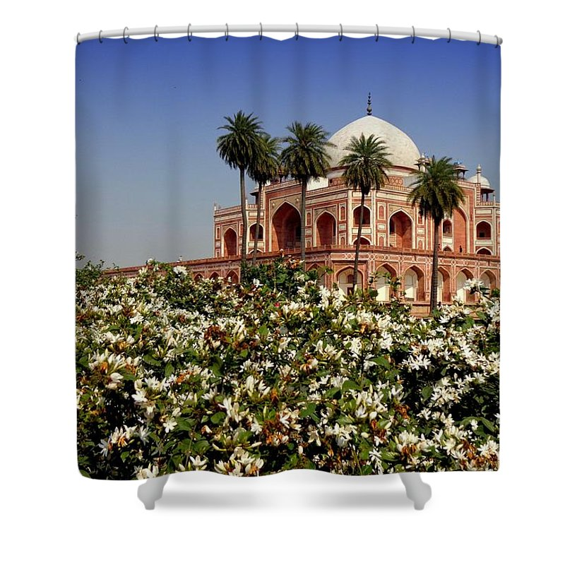 Tranquility Shower Curtain featuring the photograph Tomb Of Humayun by Smit Sandhir