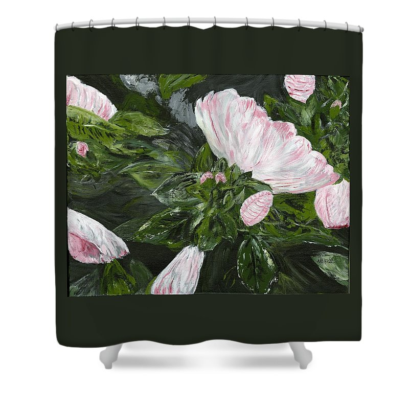 Hibiscus Shower Curtain featuring the painting Tomorrow's Promise by Alice Faber