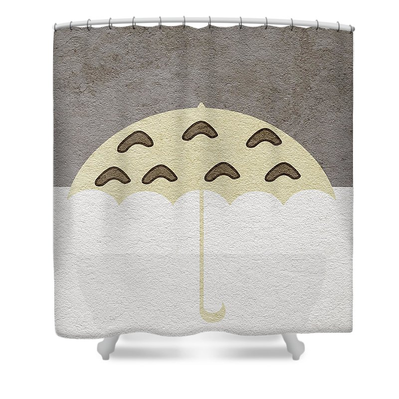 Tonari No Totoro Shower Curtain Featuring The Digital Art By Inspirowl Design