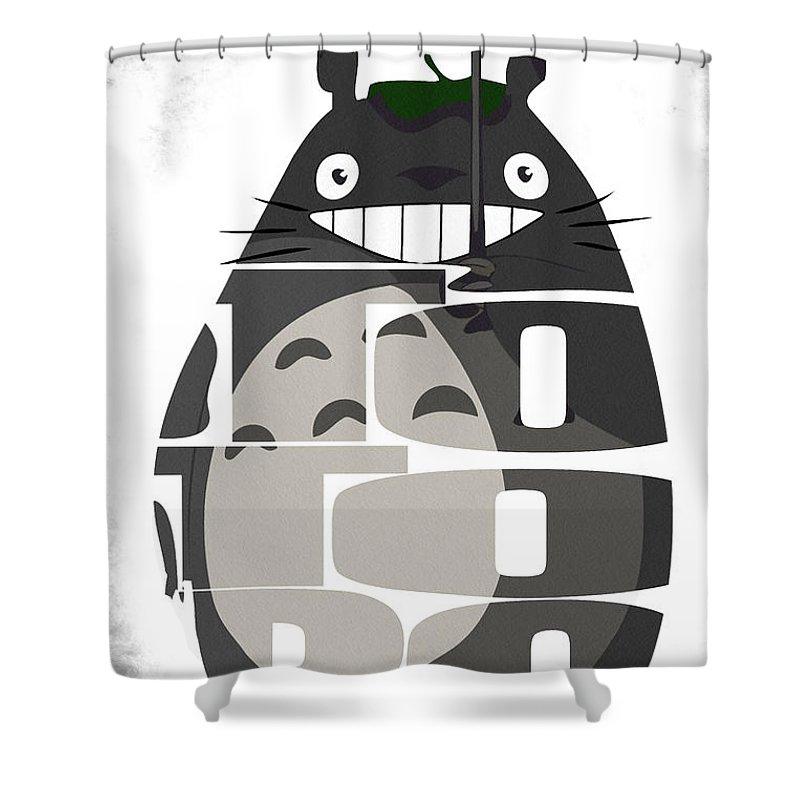 Totoro Shower Curtain Featuring The Digital Art Tonari No
