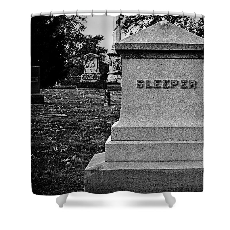 Cemetery Shower Curtain featuring the photograph Too Ironic by Chris Berry