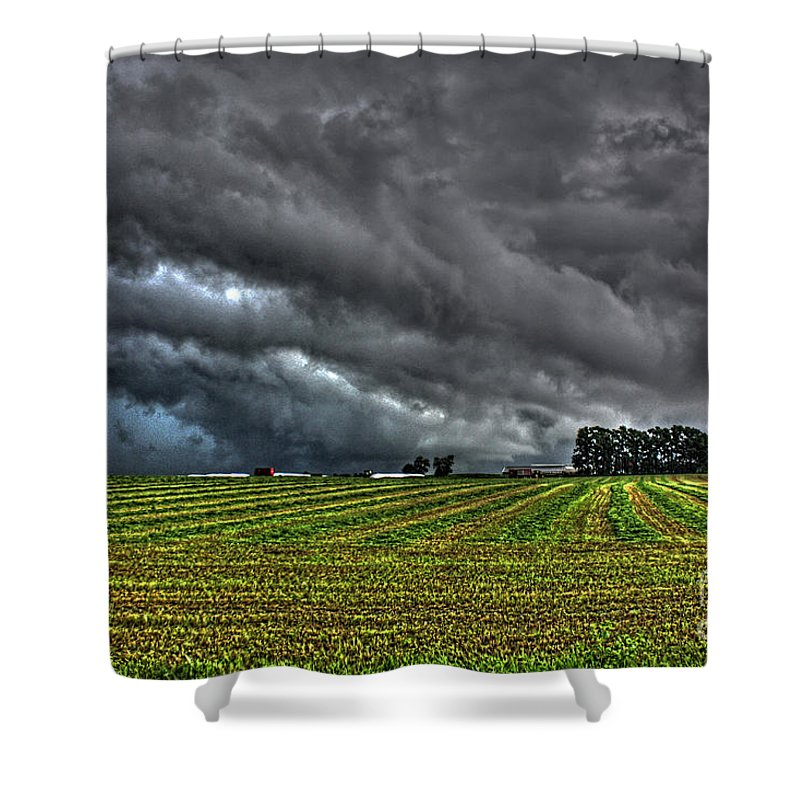 Tornado Shower Curtain featuring the photograph Tornado Over Madison 5 by Tommy Anderson