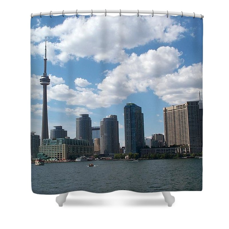 Toronto Shower Curtain featuring the photograph Toronto Skyline by Barbara McDevitt
