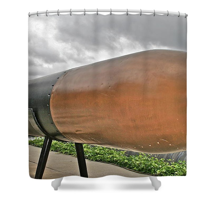 Torpedo Shower Curtain featuring the photograph Torpedo by Rick Monyahan
