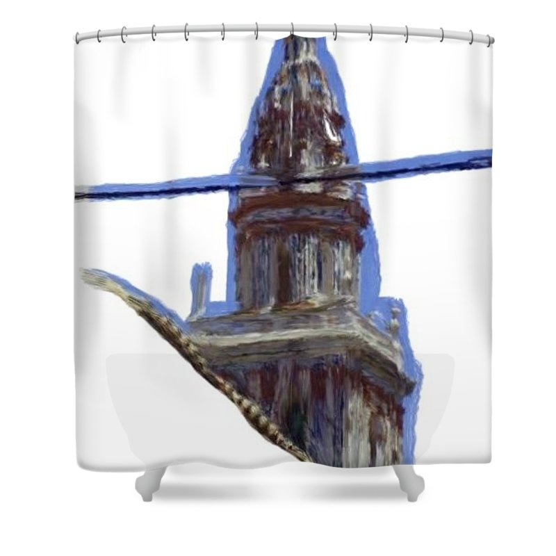 Church Shower Curtain featuring the painting Torre De Ecija by Bruce Nutting