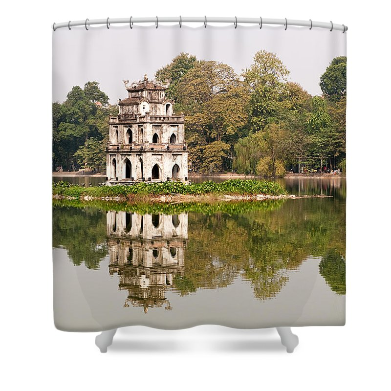 Vietnam Shower Curtain featuring the photograph Tortoise Tower 03 by Rick Piper Photography