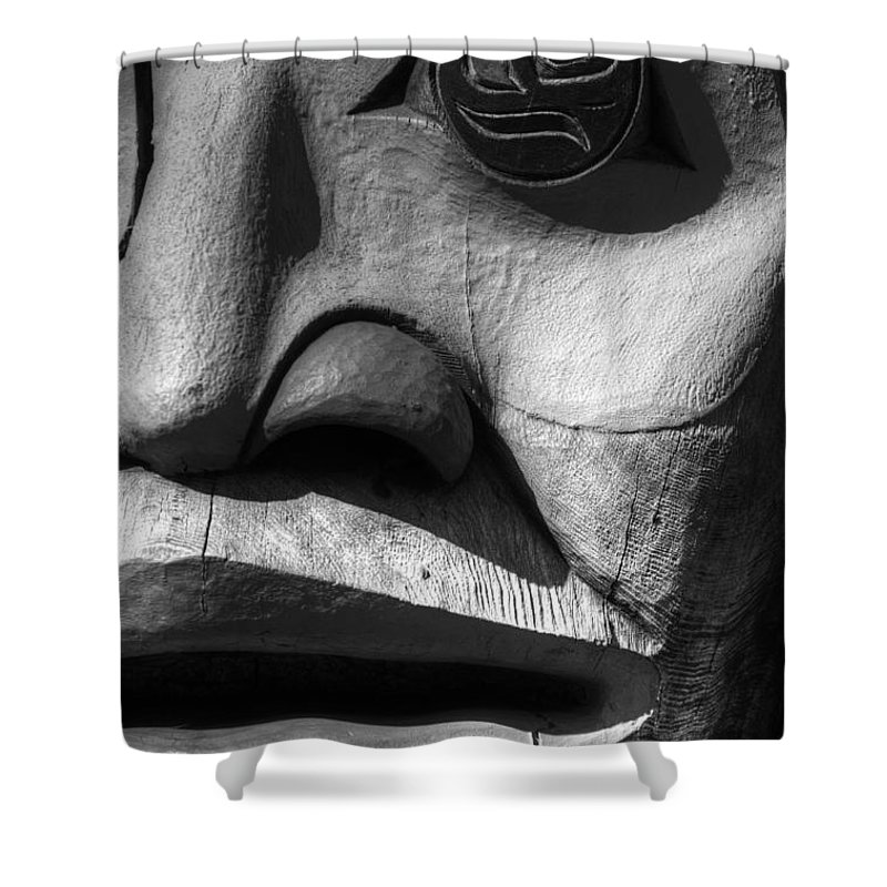Totem Shower Curtain featuring the photograph Totem 3 by Bob Christopher