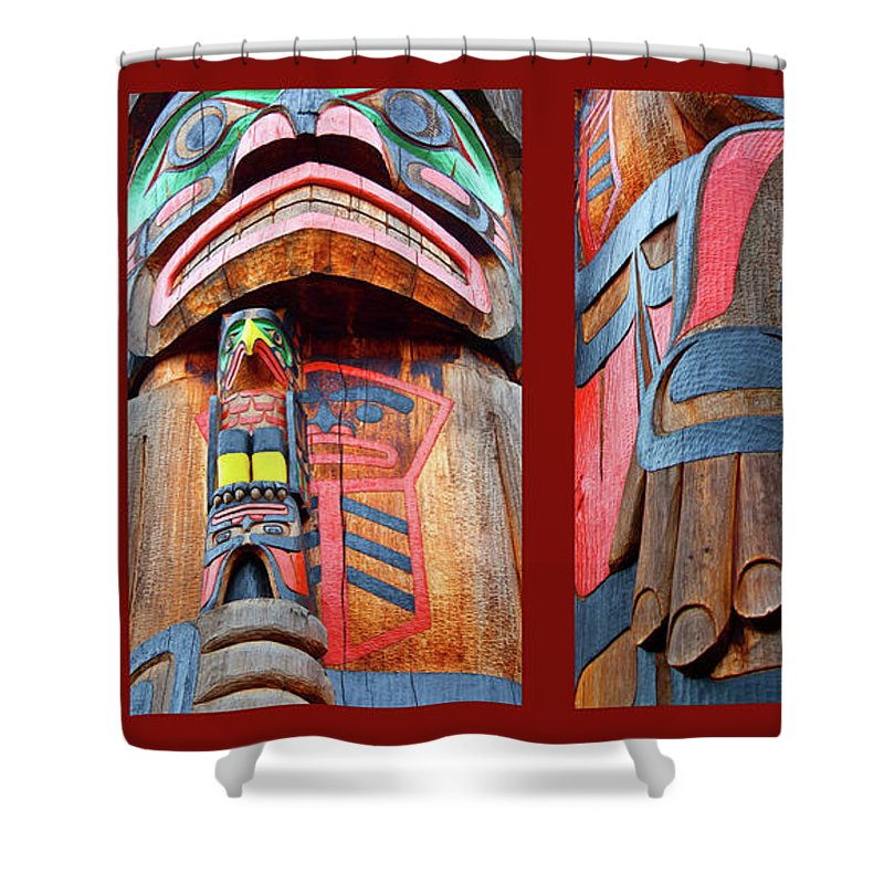 Native American Shower Curtain featuring the photograph Totem 3 by Theresa Tahara