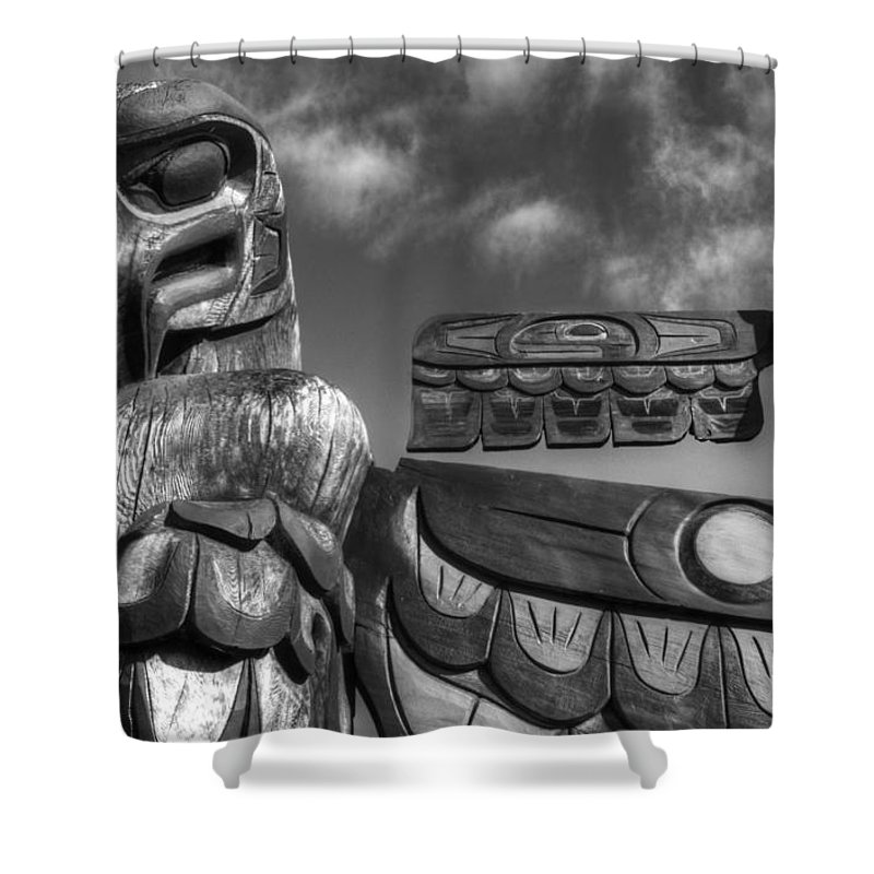 Totem Shower Curtain featuring the photograph Totems 2 by Bob Christopher