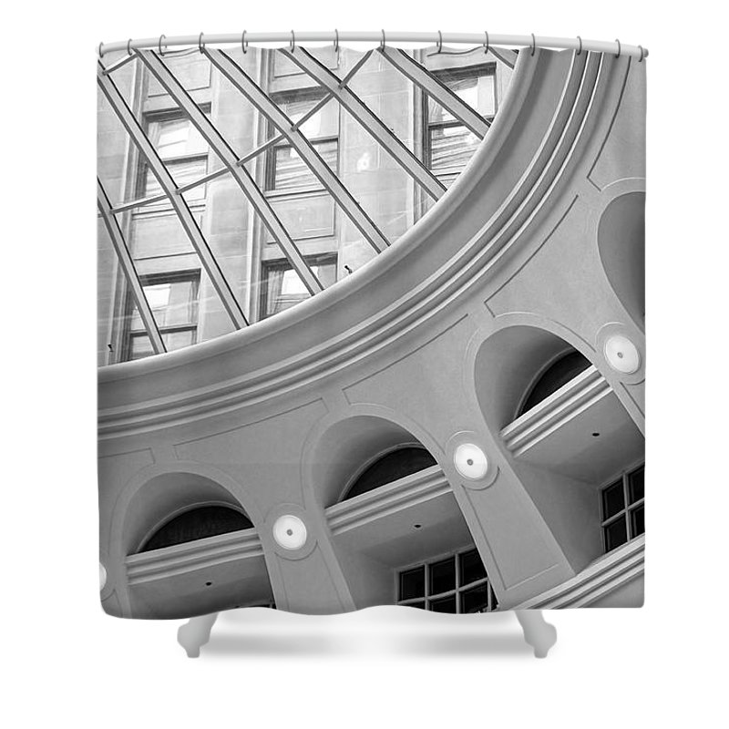 Tower City Center Shower Curtain featuring the photograph Tower City Rotunda by Jenny Hudson