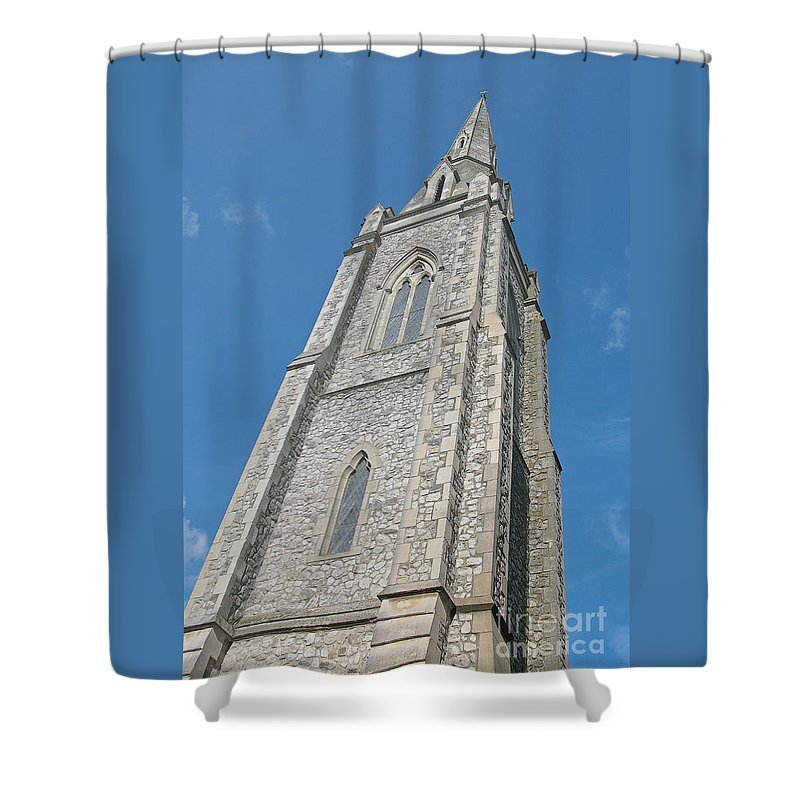 England Shower Curtain featuring the photograph Towering by Ann Horn