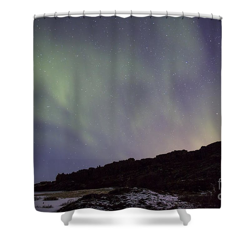 Thingvellir Shower Curtain featuring the photograph Traces Of Dreams by Evelina Kremsdorf