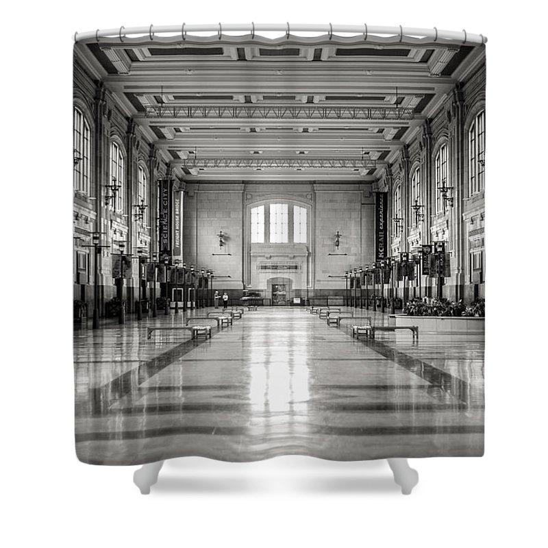 Train Station Shower Curtain featuring the photograph Train Station by Sennie Pierson