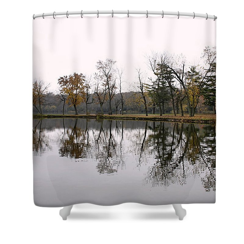 Lake Shower Curtain featuring the photograph Tranquil Reflections by Ely Arsha
