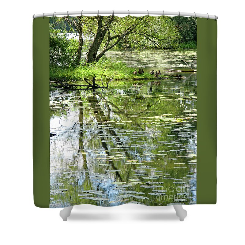 Reflection Shower Curtain featuring the photograph Tranquility by Ann Horn