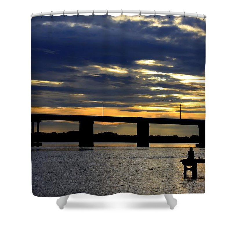 Scenery Shower Curtain featuring the photograph Tranquility by Debra Forand