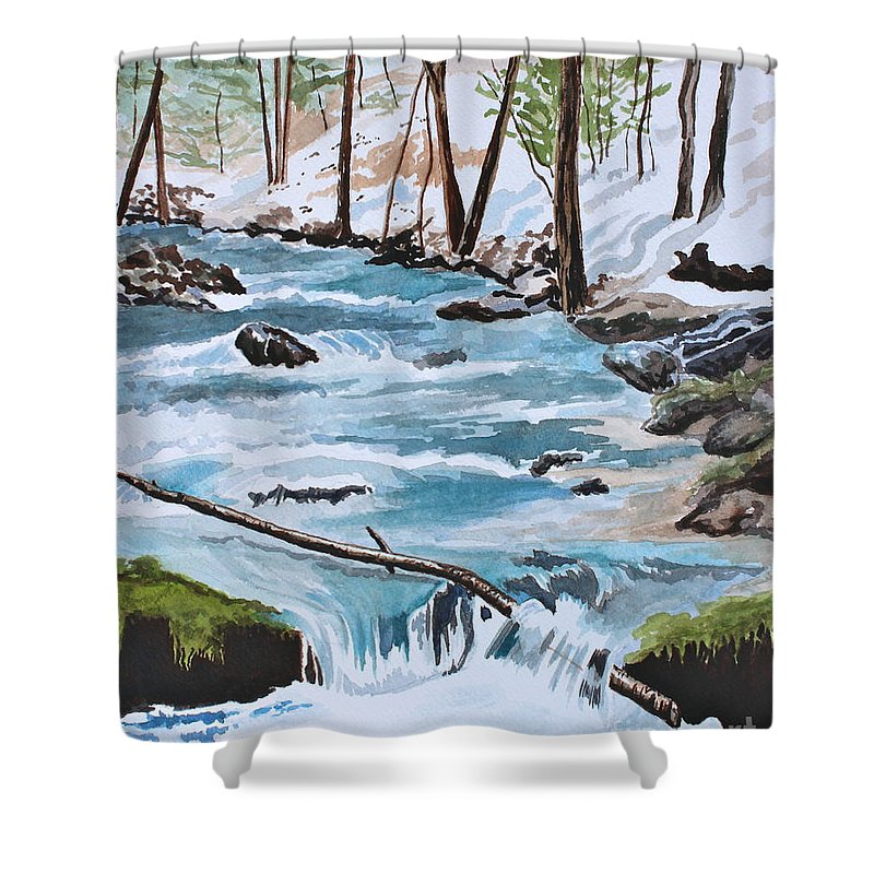 Water Shower Curtain featuring the painting Tranquility by Tricia Lesky