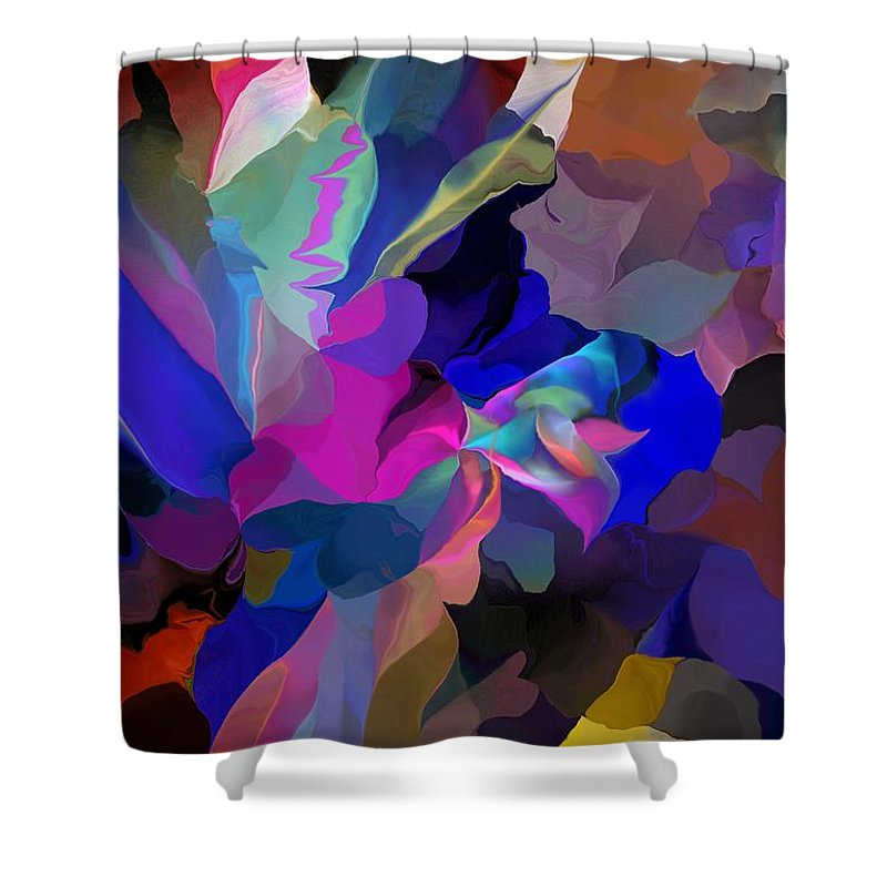 Fine Art Shower Curtain featuring the digital art Transcendental Altered States by David Lane