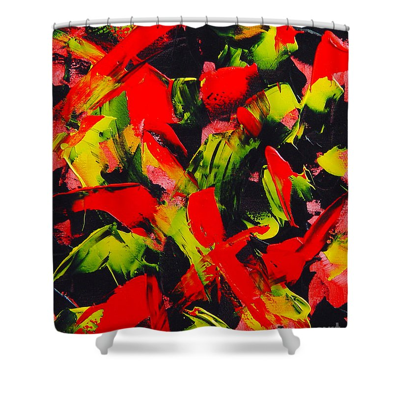 Abstract Shower Curtain featuring the painting Transitions IIi by Dean Triolo