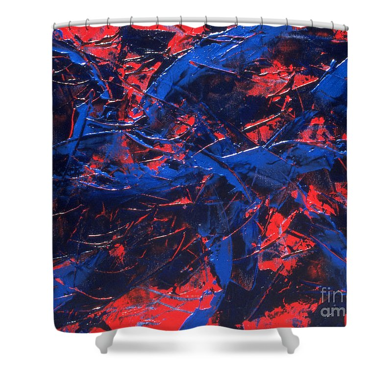 Abstract Shower Curtain featuring the painting Transitions Iv by Dean Triolo