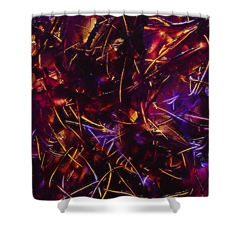 Abstract Shower Curtain featuring the painting Transitions X by Dean Triolo