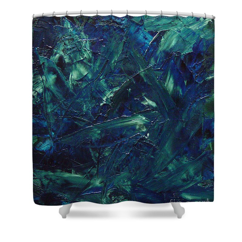 Abstract Shower Curtain featuring the painting Transtions Xi by Dean Triolo