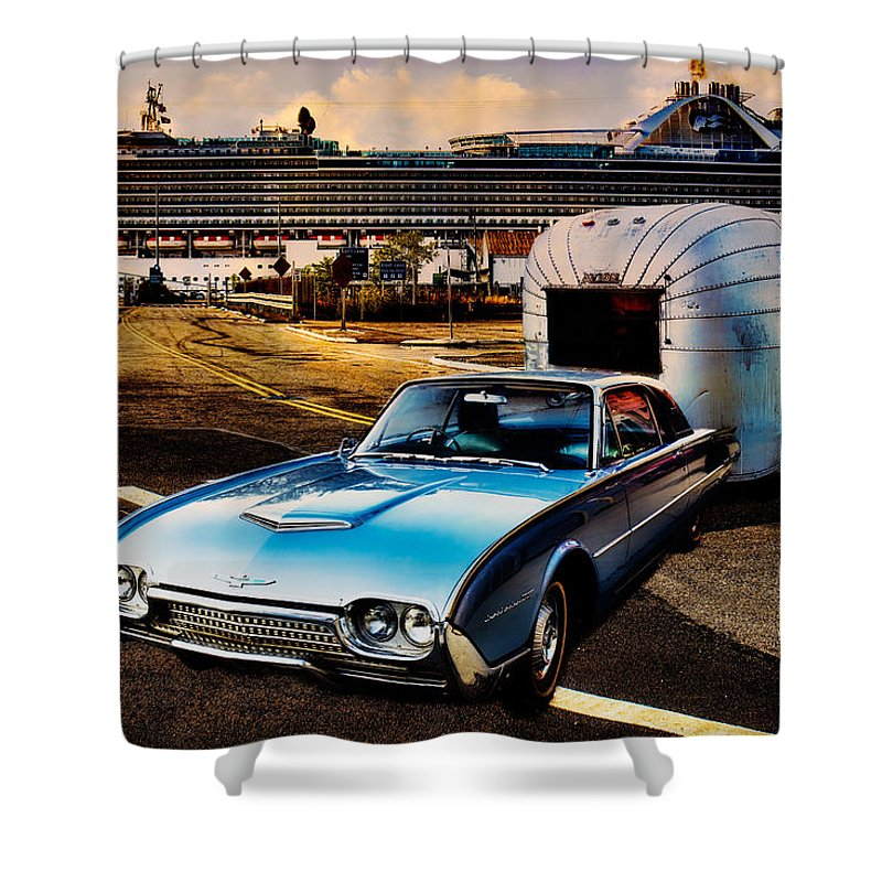 Trailer Shower Curtain featuring the photograph Travelin' In Style by Chris Lord