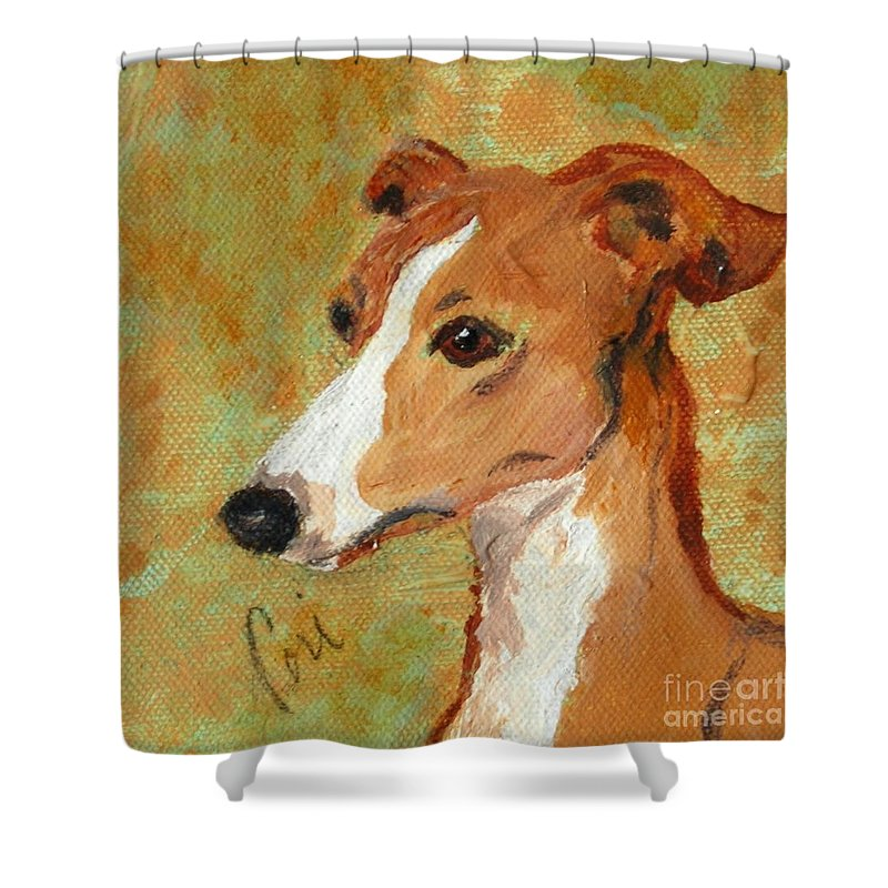 Acrylic Shower Curtain featuring the painting Treasured Moments by Cori Solomon