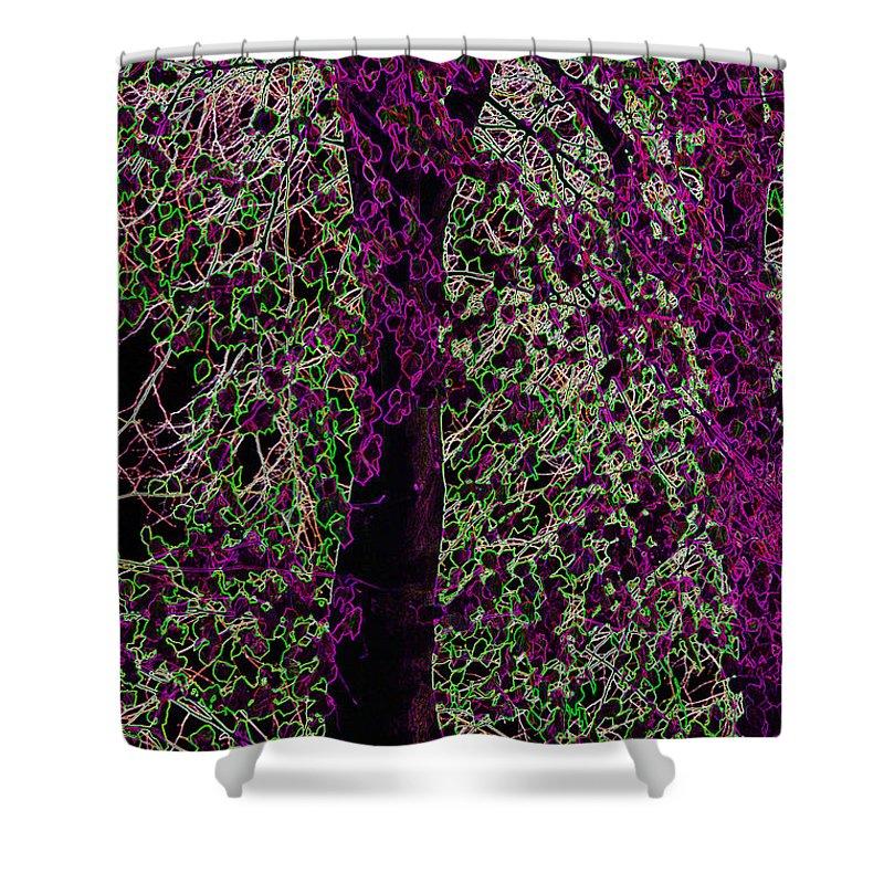 Purple Shower Curtain featuring the digital art Tree by Carol Lynch