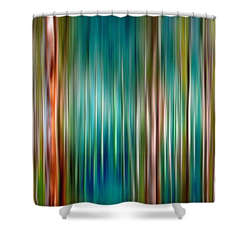 Blurry Digital Art Shower Curtains