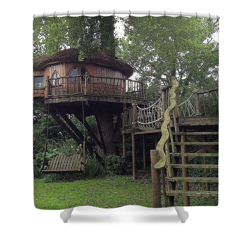 Photograph Shower Curtain featuring the photograph Tree Penthouse by Nicole Parks