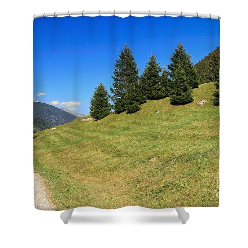Alpine Shower Curtain featuring the photograph Trentino - Val Di Sole by Antonio Scarpi