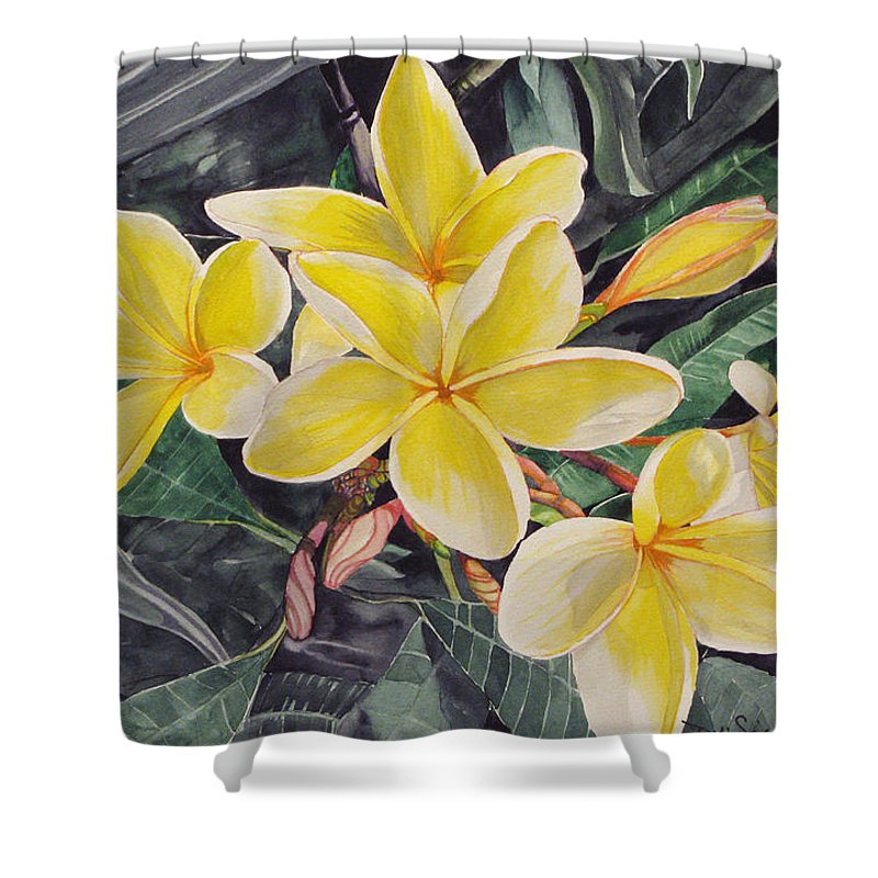 Shower Curtain featuring the painting Tribute To Marita by Debi Singer