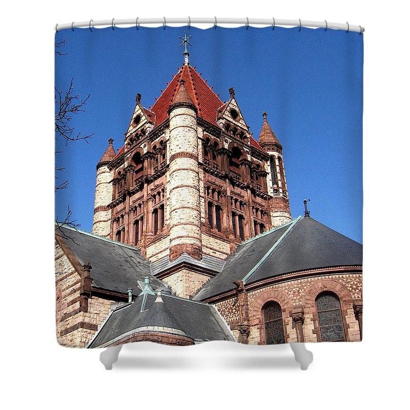Boston Shower Curtain featuring the photograph Trinity Church Boston by Marcello Cicchini