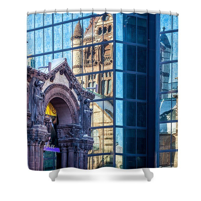 America Shower Curtain featuring the photograph Trinity Reflections by Susan Cole Kelly