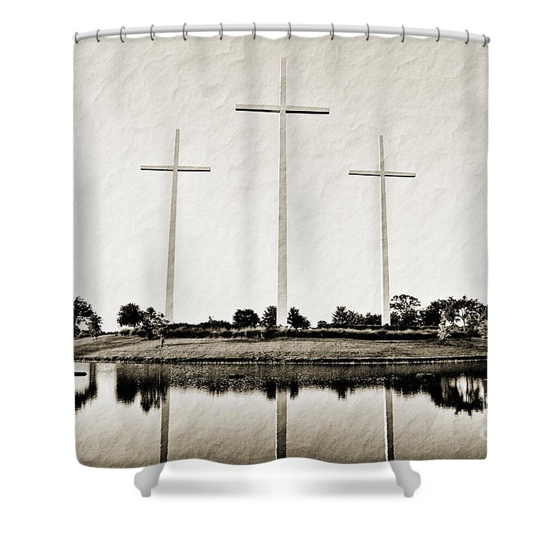 Trinity Shower Curtain featuring the photograph Trinity by Scott Pellegrin