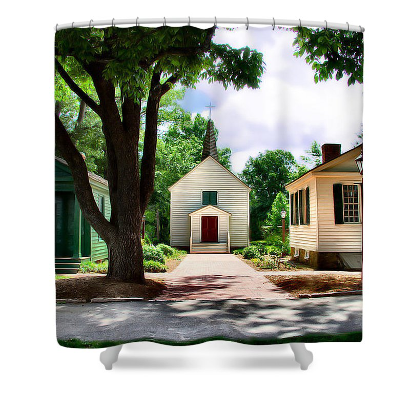 Church Shower Curtain featuring the photograph Trio by Nadine Lewis