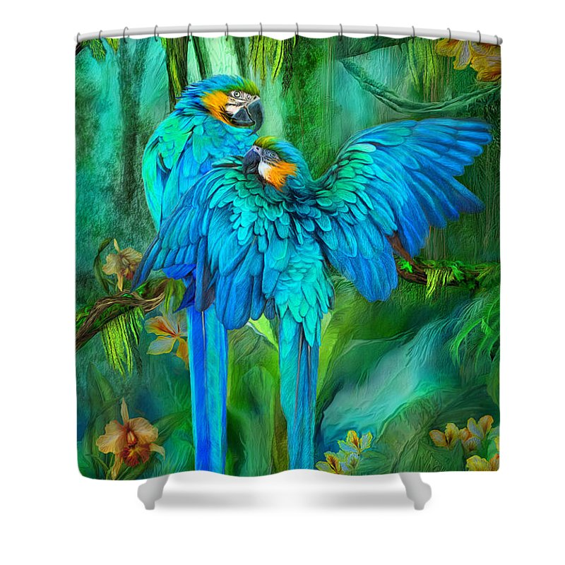 Macaw Shower Curtains