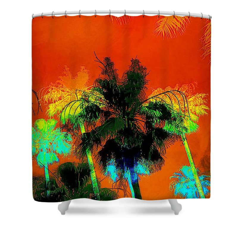 Tropical Shower Curtain featuring the photograph Tropical Blend by Barbara Chichester